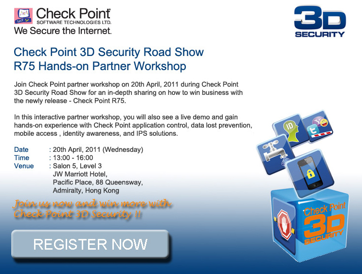 Check Point 3D Security Road Show R75 Hands-on Partner