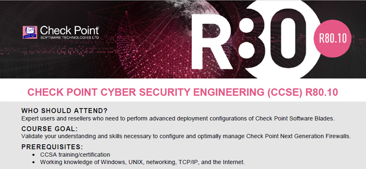 Check Point Certified Expert (CCSE) R80 10 Training, 26 Apr 2018