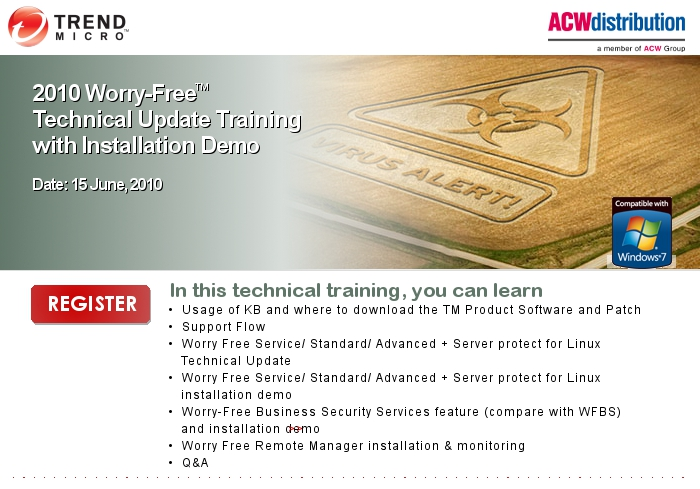 2010 Worry-FreeTM Technical Update Training with