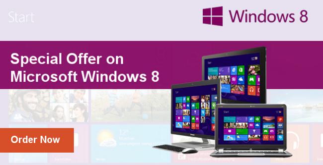Special Offer on Microsoft Windows 8 (17 Jan - 31 Mar, 2013)